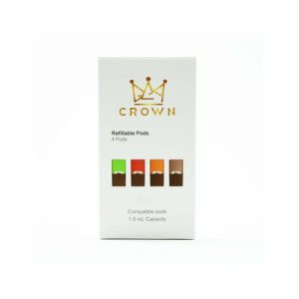 CROWN Refillable Pods – 4 Pack | JUUL Compatible